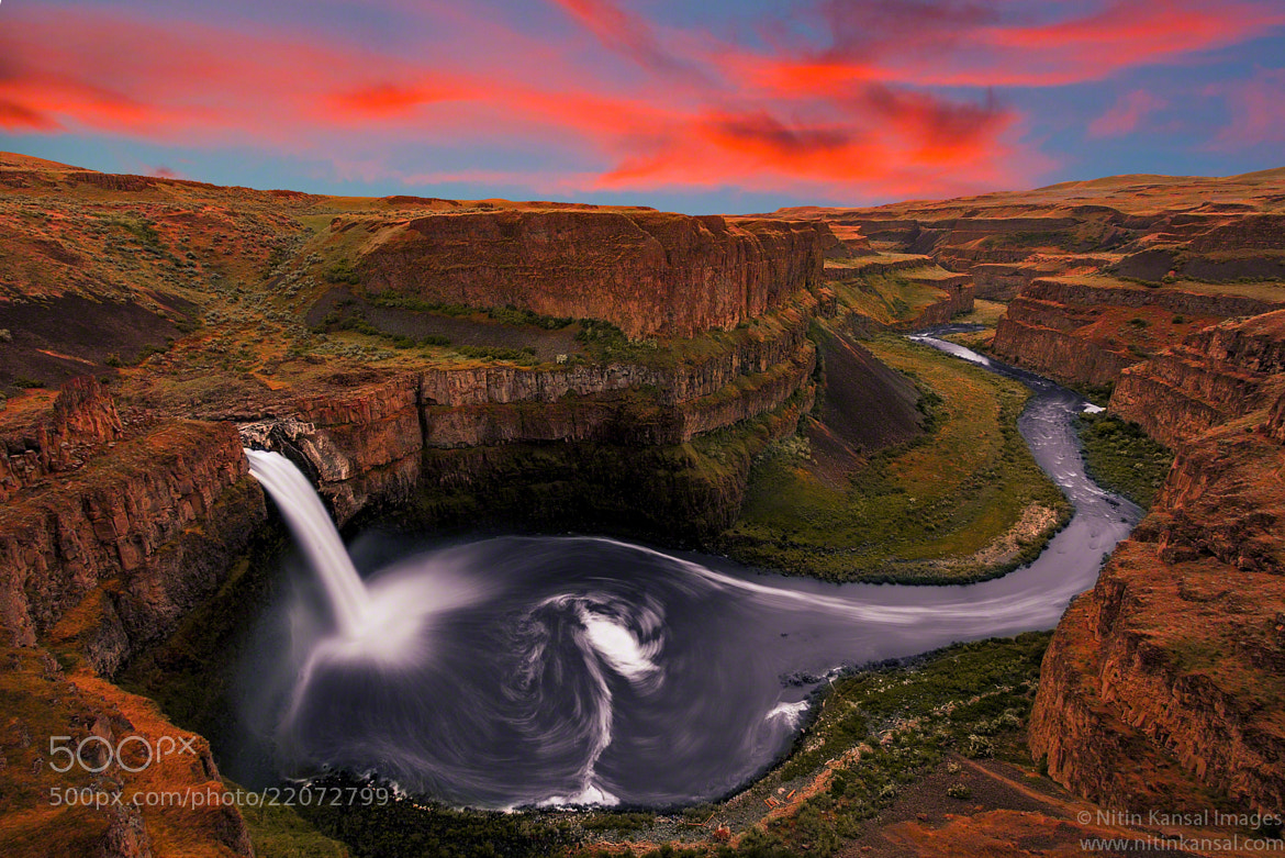 Photograph Palouse Falls Sunset by Nitin Kansal on 500px