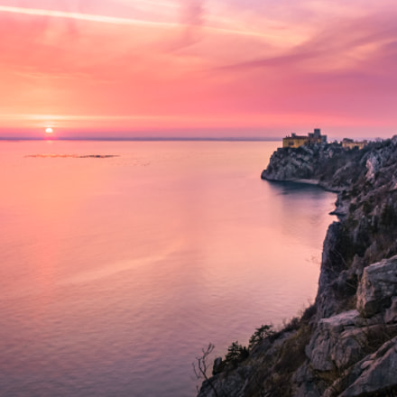 Castle Duino at the sunset