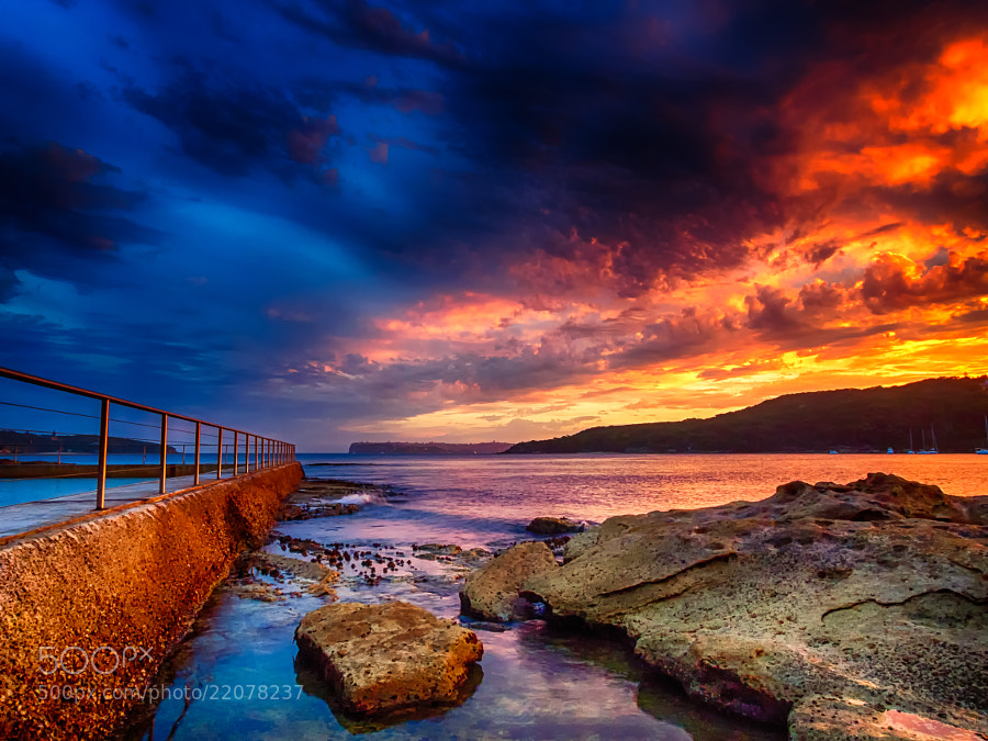 Photograph Manly Rock Baths in HDR by Paul Emmings on 500px