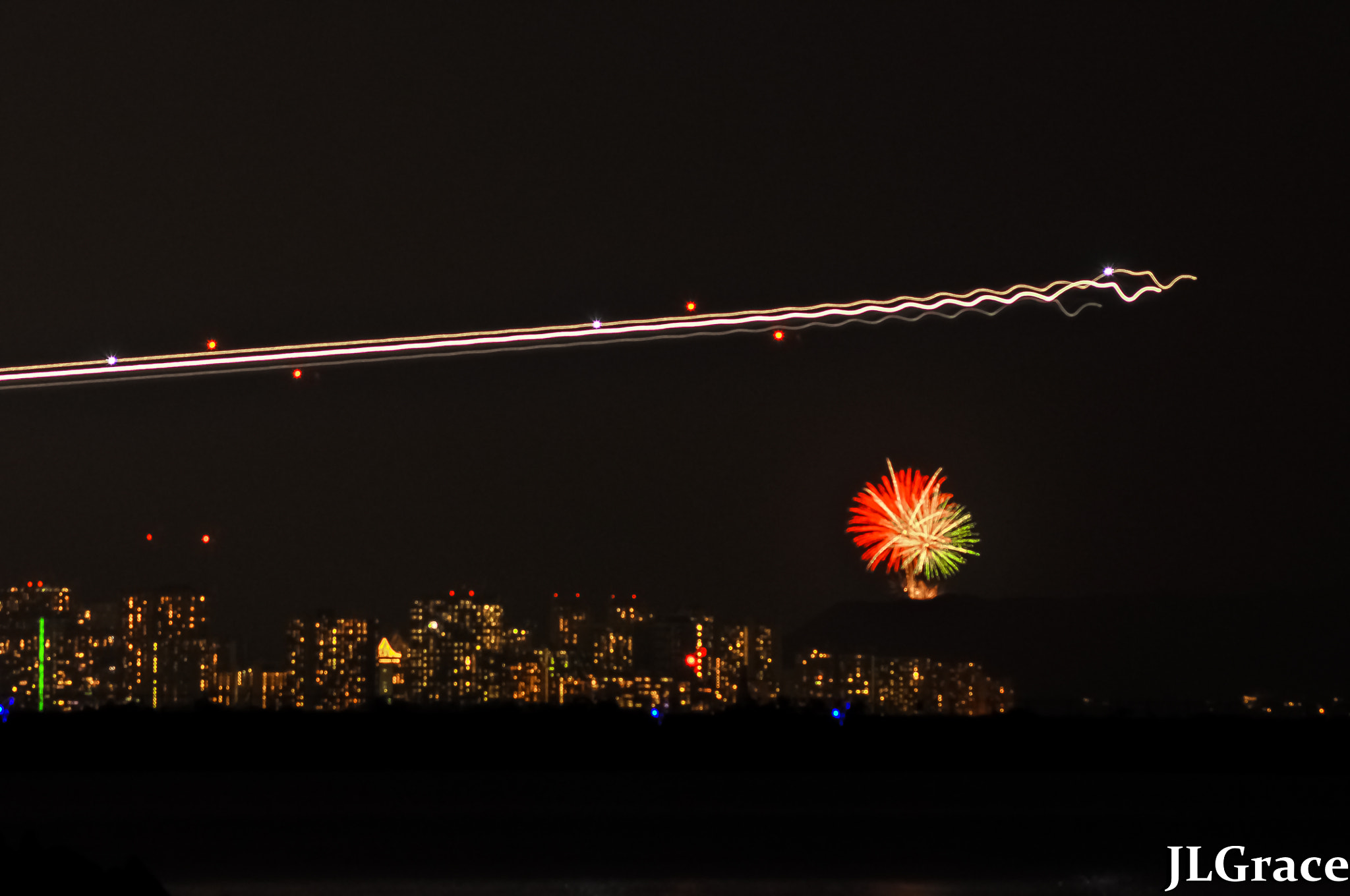Photograph Flying Over Fireworks by Janis Grace on 500px