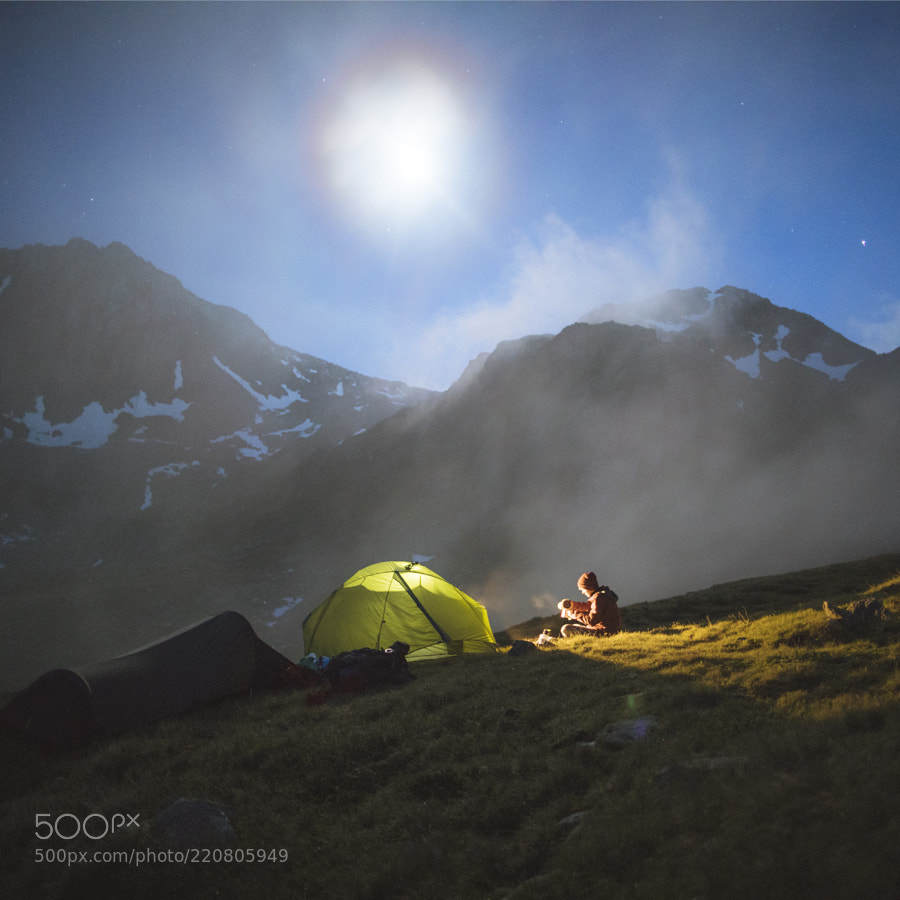Moonlit Camp over Tomasee