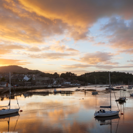 Incredible Sunset at Conwy Harbour, Conwy, North Wales