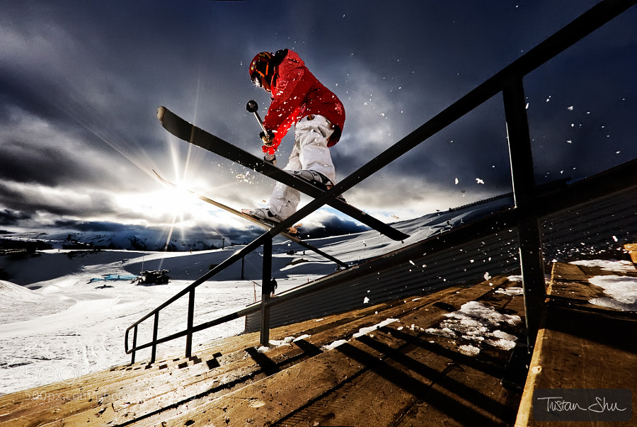Photograph Mystical Rail with Gus Kenworthy by Tristan Shu on 500px