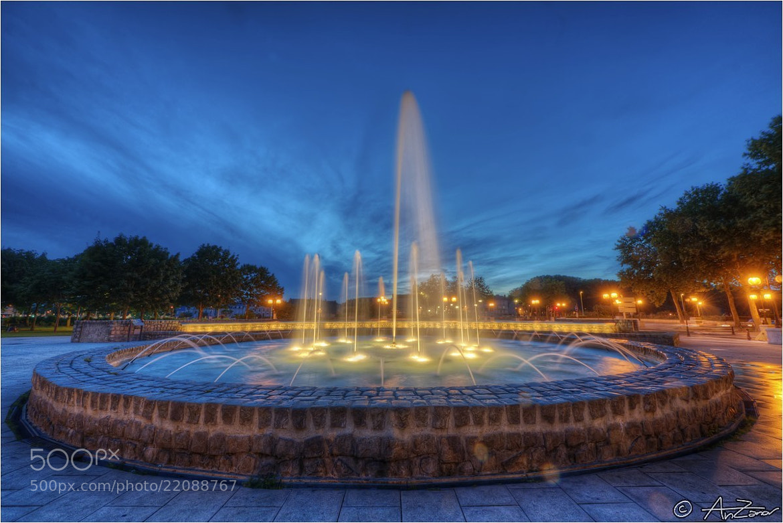 "Photograph Angers fountain blue hour 2012-08-12 214438 by Andrea ""AnZanov"" Zanovello on 500px"