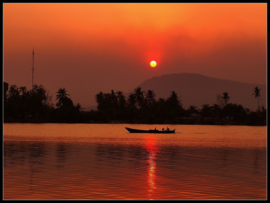 Photograph Sunset in Kampot, Cambodia by Paul M on 500px