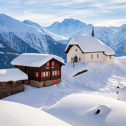 Idyllic Swiss Winter / Bettmeralp, Switzerland