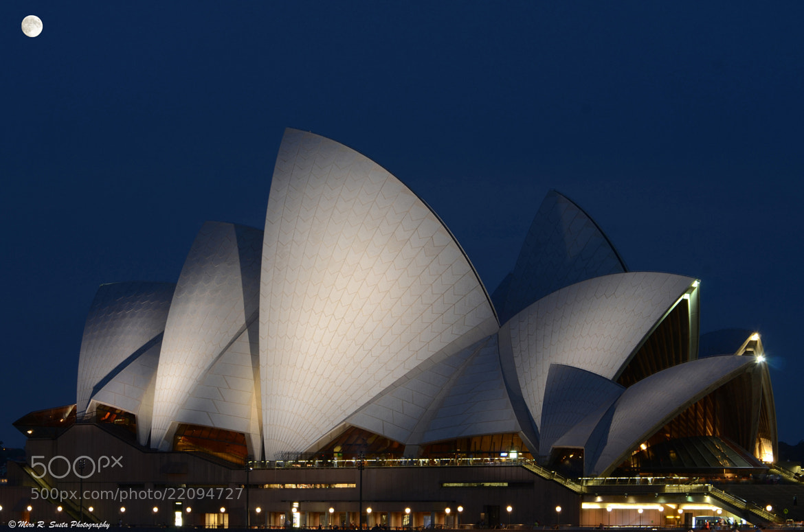 Photograph Full Moon over the Opera House by Miro Susta on 500px