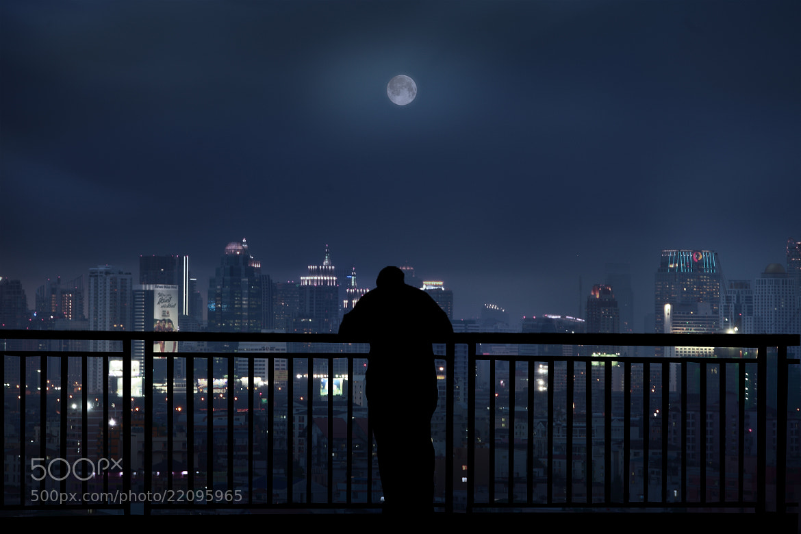 Photograph lonely night by Kittiwut Chuamrassamee on 500px