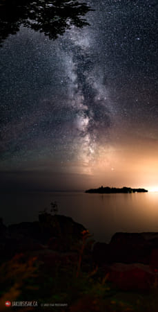 Milky Way over Mary Island from Silver Harbour near Thunder Bay
