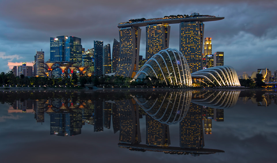 Photograph Singapore Nightscape by Edward Tian on 500px
