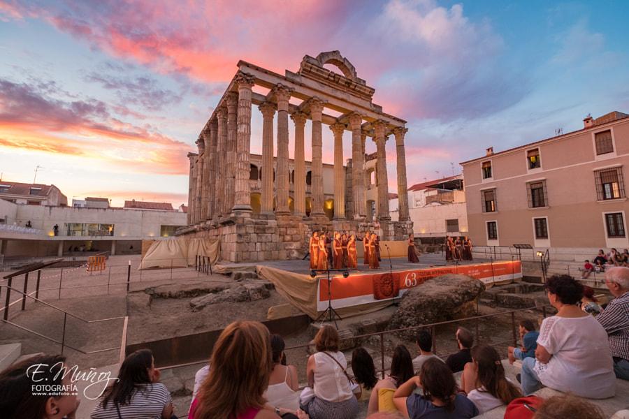 Temple of Diana, Mérida, Extremadura, SPAIN de Eduardo Muñoz en 500px.com