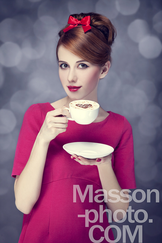 Photograph Redhead girl with coffee cup. St. Valentine Day. by Vladimir Nikulin / Masson on 500px