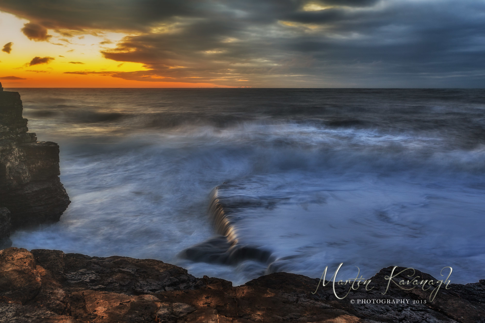 Photograph Stormy Sea... by Martin Kavanagh on 500px