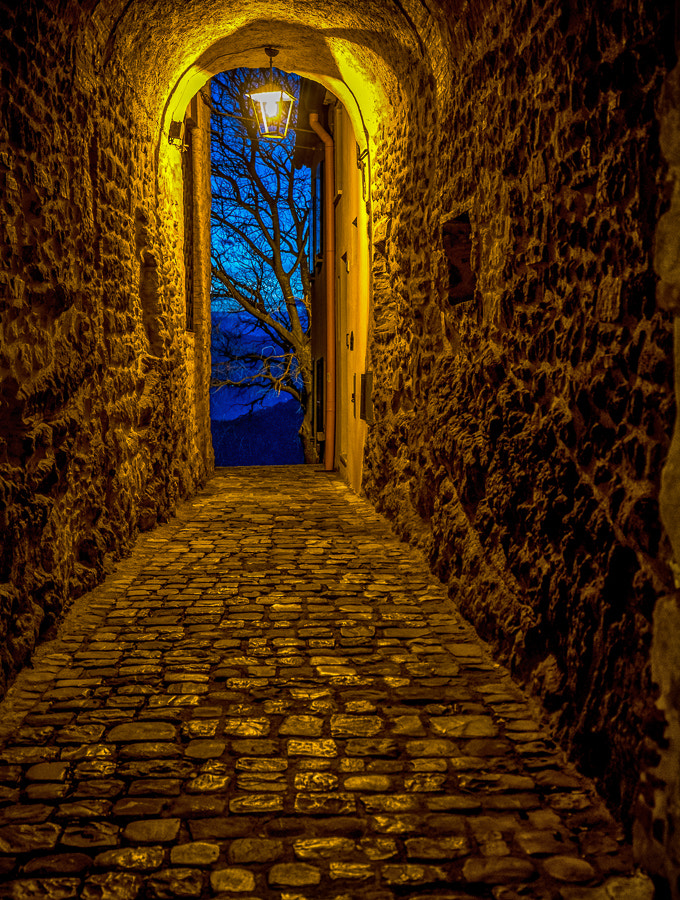 Photograph The blue at the end of the tunnel by Antonio Zarli on 500px