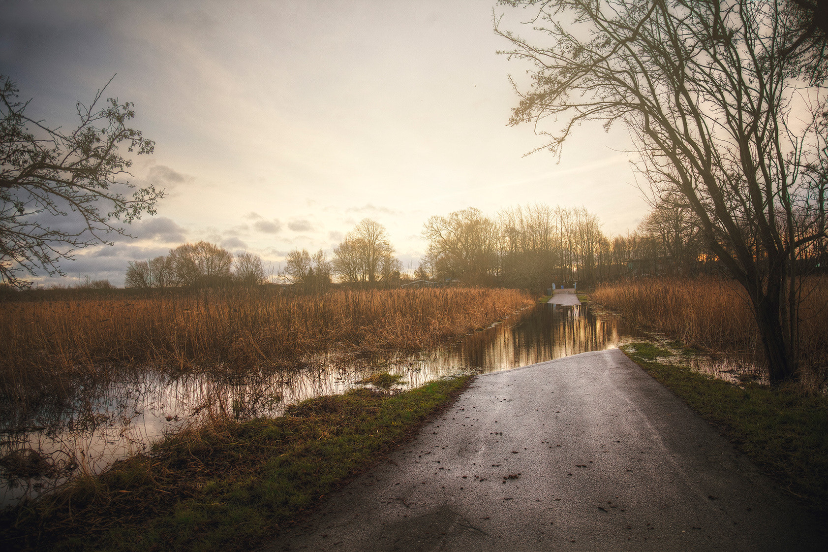 Photograph Flooded Road Home by Peter B. Christiansen on 500px