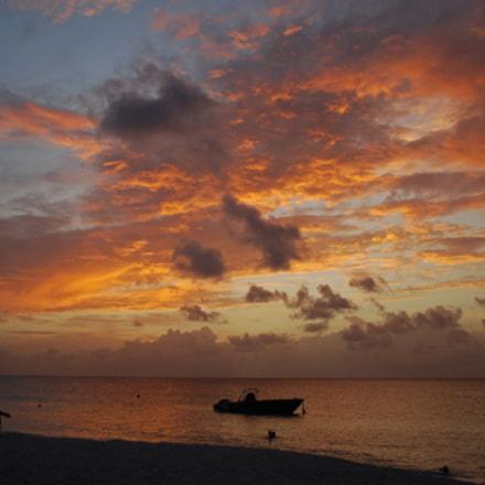 Orange Sunset - Anguilla - 2011