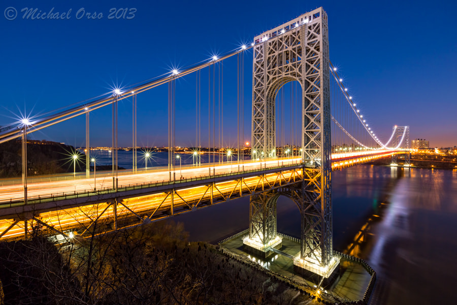 Photograph Moonrise - GWB by Mike Orso on 500px