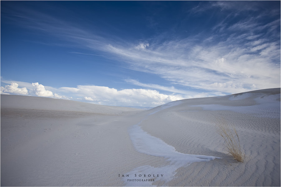 White sands with a touch of snow