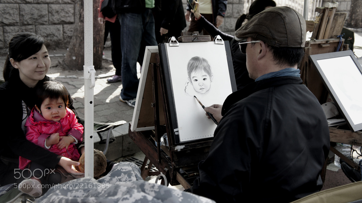 Photograph The Street Artist by Michael Song on 500px