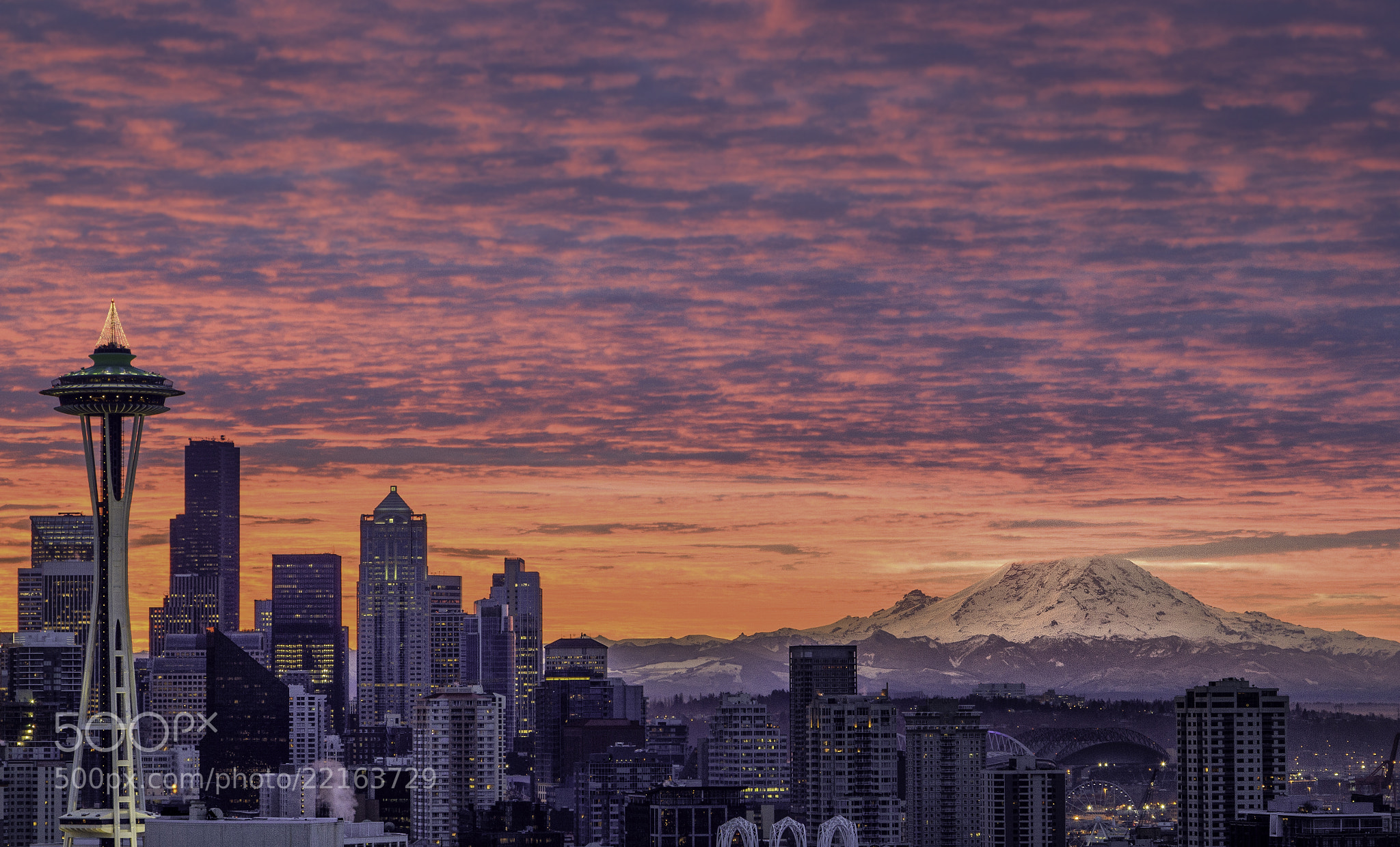 Photograph Winter Sunrise in Seattle by Aman Agarwal on 500px