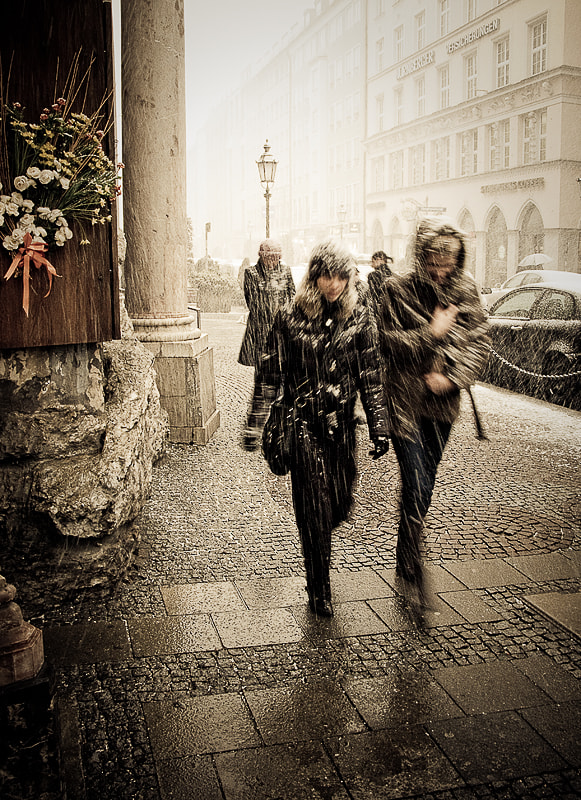 Photograph Snowfall in Munchen by jo er on 500px