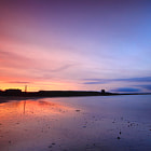Sunset over Balbriggan beach, Dublin, Ireland