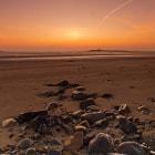 Sunrise over Shenick island, Skerries, Co Dublin, Ireland