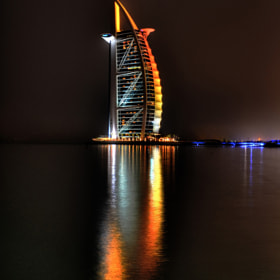 Burj Al Arab at night by Michael Gerlt (traveler91)) on 500px.com