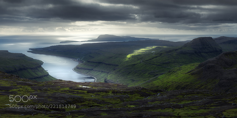 View from Skeiðsskarð to Nolsoy