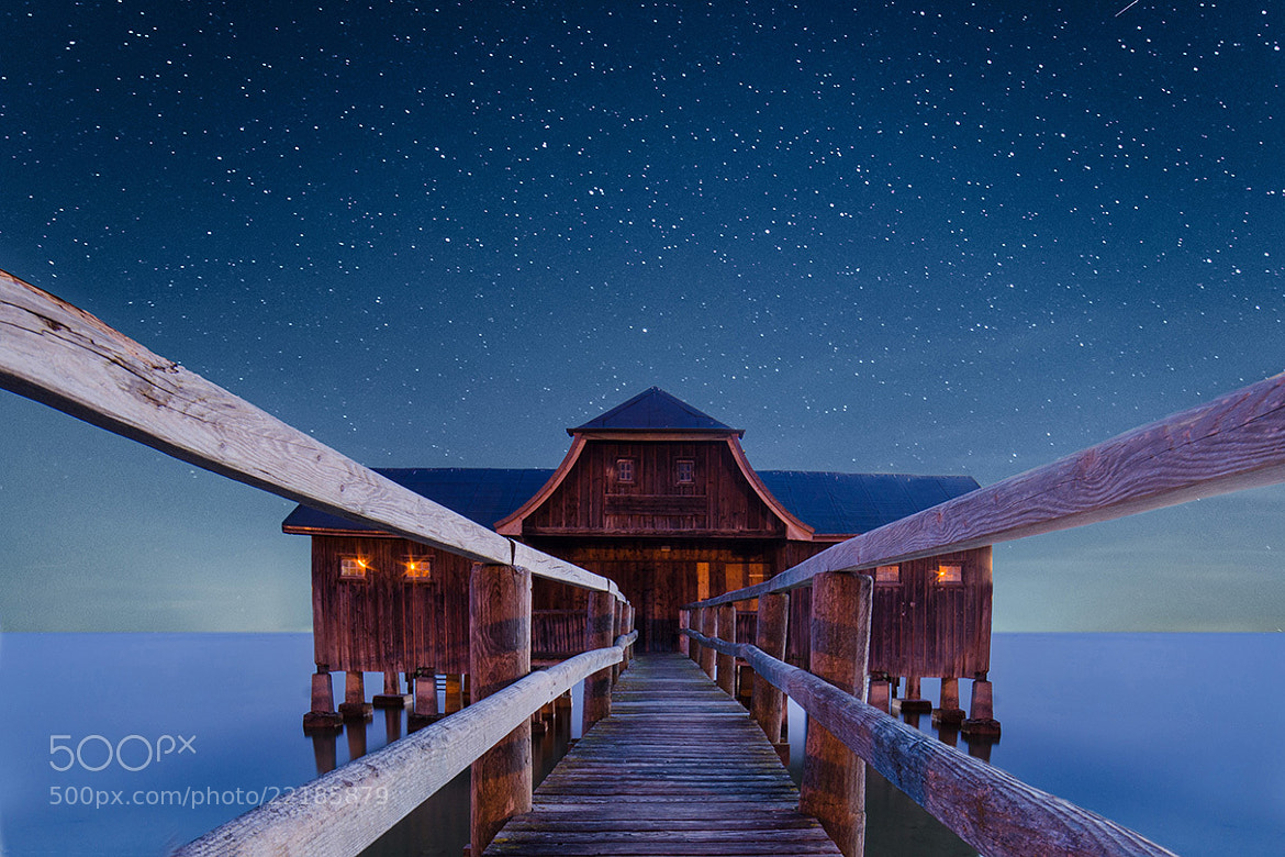Photograph Boathouse at night by Thomas W. on 500px