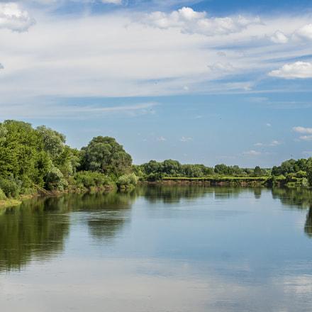 The river Dnieper in Belarus