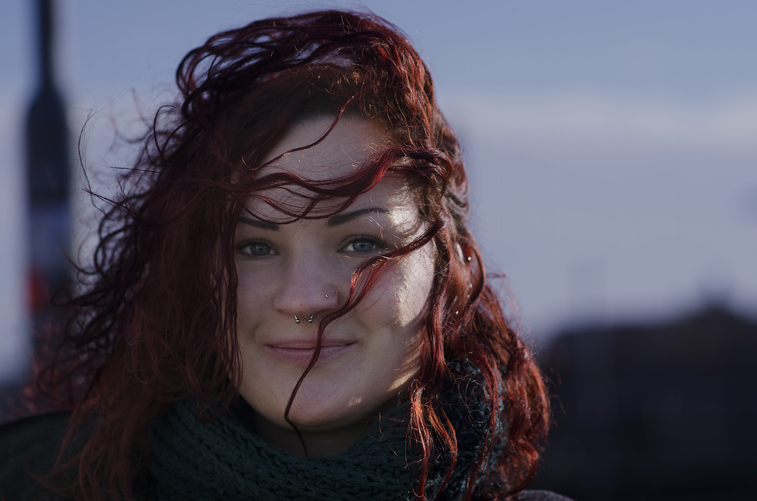Photograph Red Haired Girl with Piercing by Mustafa Keskin on 500px