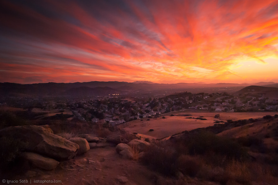 Photograph Sunset over the valley by Ignacio Soto on 500px