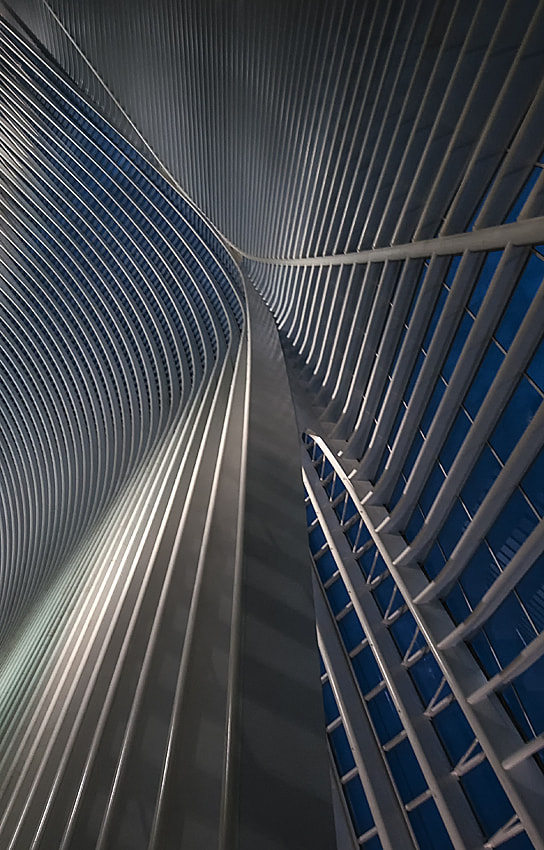 Photograph Calatrava lines at the blue hour by Jef Van den Houte on 500px