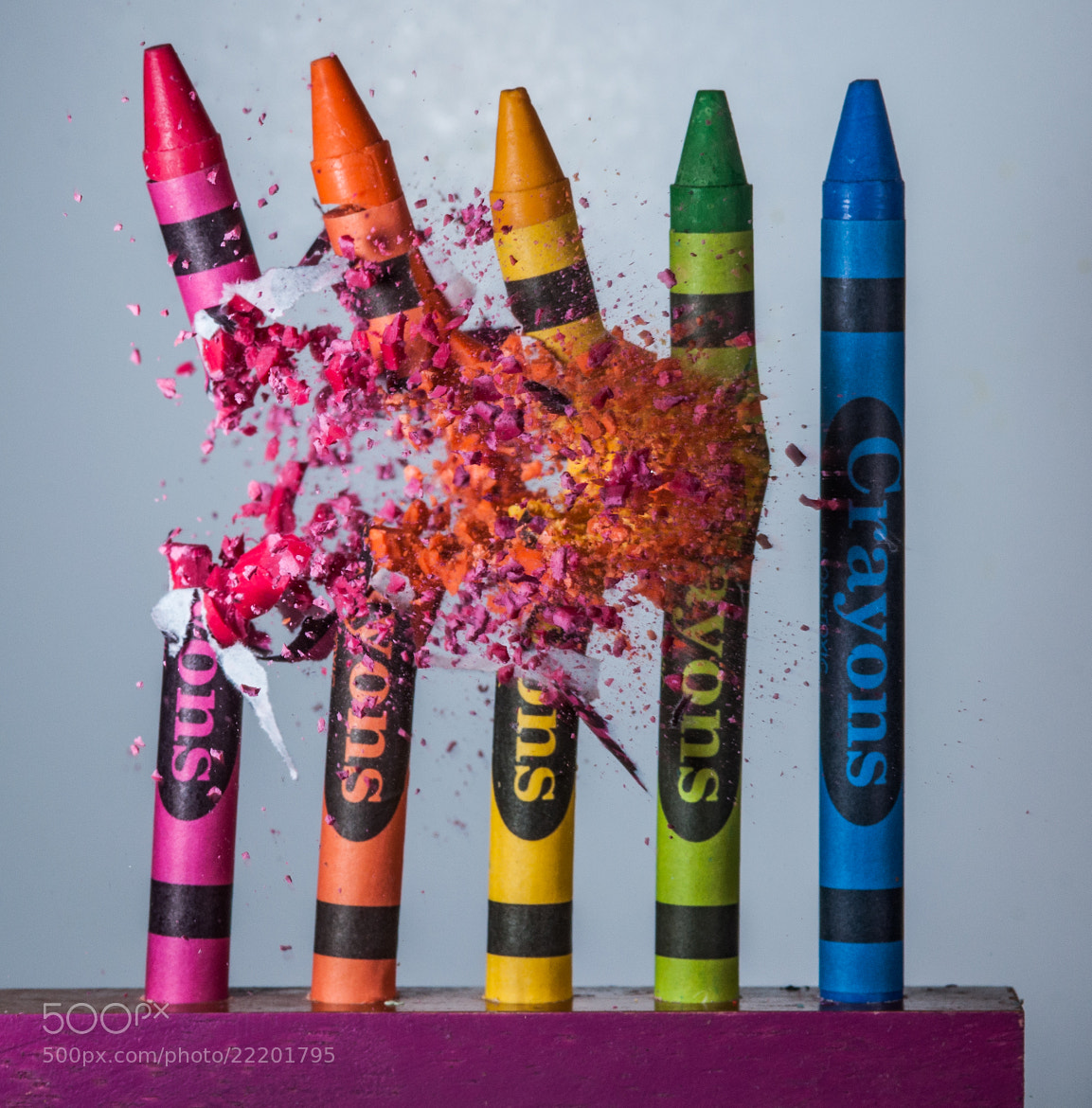 Photograph Crayon Collapse by alan sailer on 500px