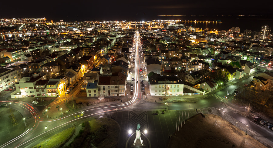 Photograph Reykjavík at night by John Q on 500px