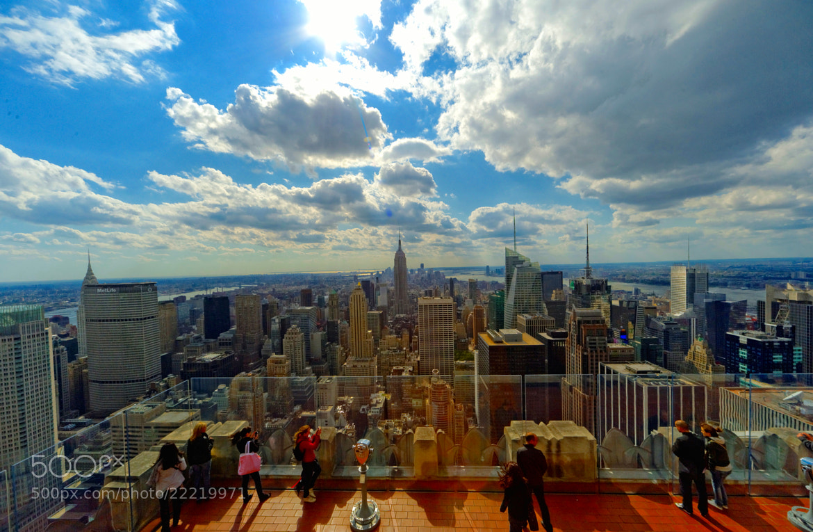 Photograph The Empire State Building & NYC from The Top of the Rock (The Rockefeller Center) by Michael FRANCHITTI on 500px