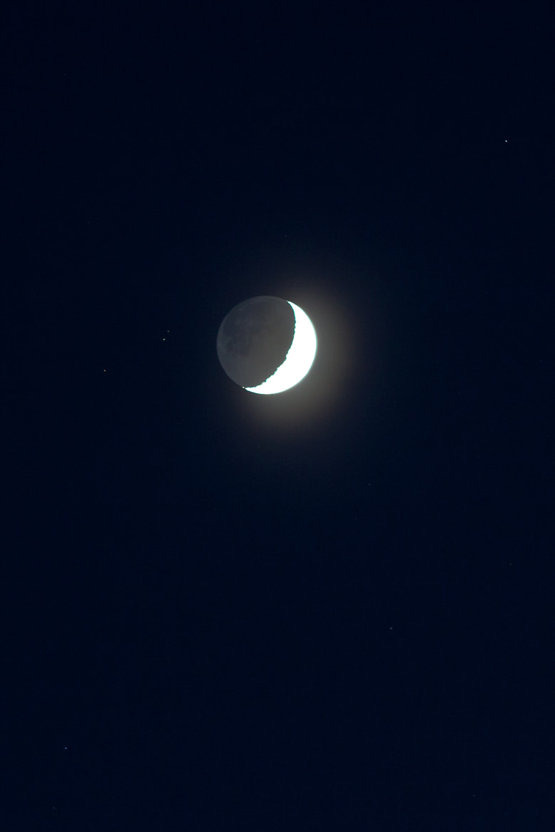 Photograph Crescent Moon by Matthew Hellewell on 500px