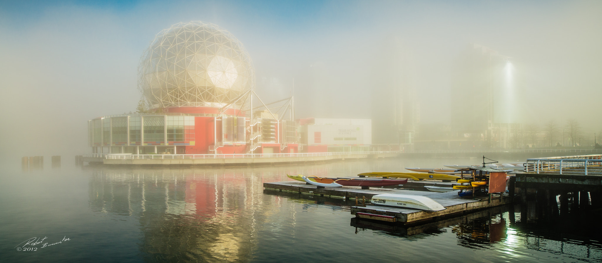 Photograph Science world in the mist by Rob Bannister on 500px
