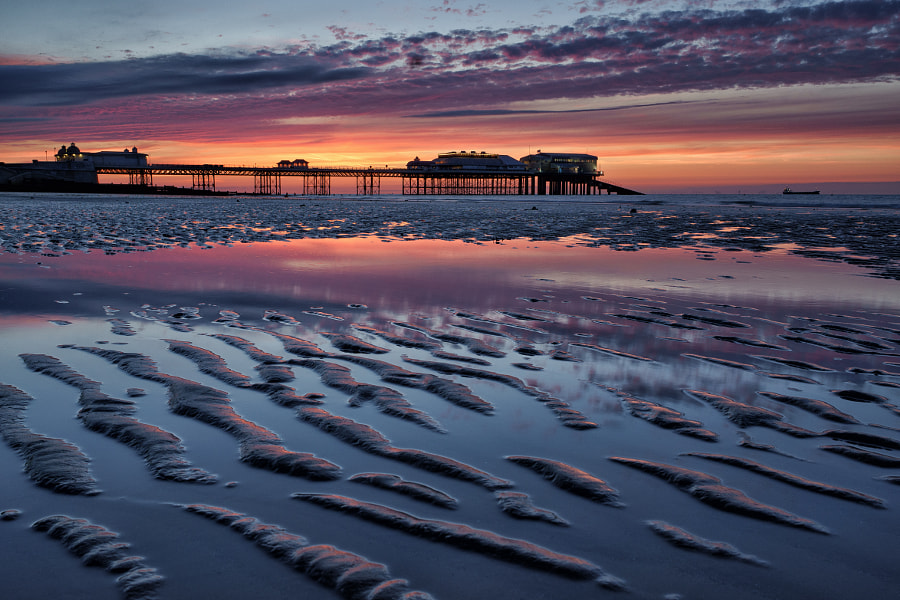 Cromer sunset at low tide