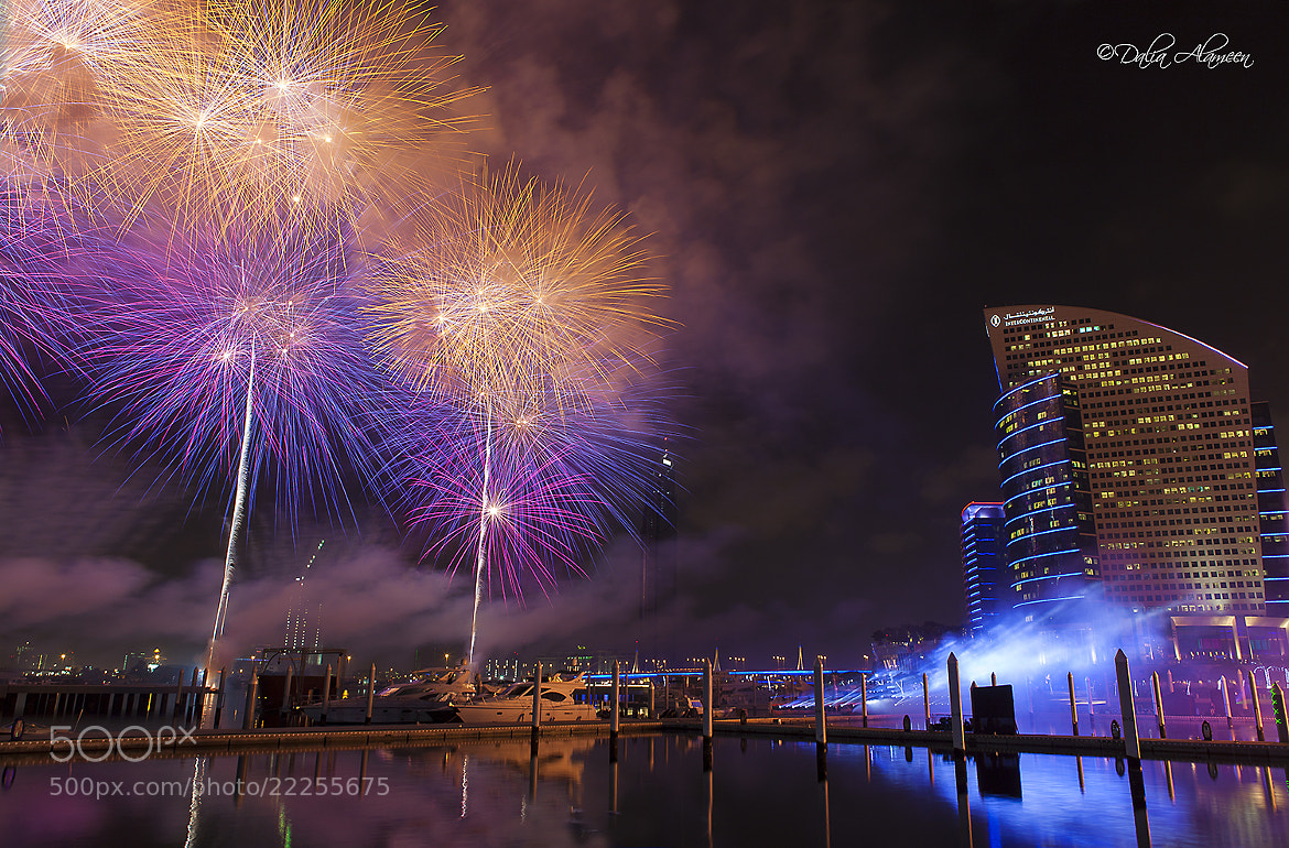 Photograph Dubai Shopping festival fireworks by Dalia Al Ameen on 500px