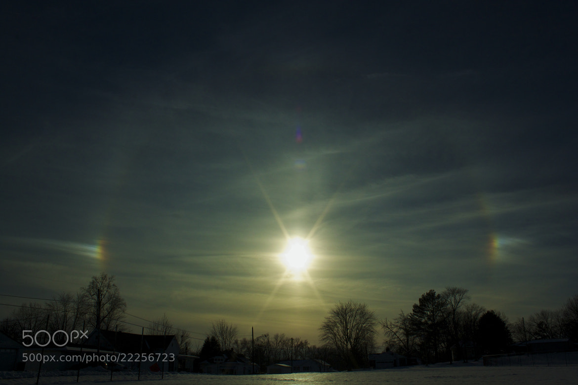 Photograph Sun dogs fire on the horizon... by Chris Taylor on 500px