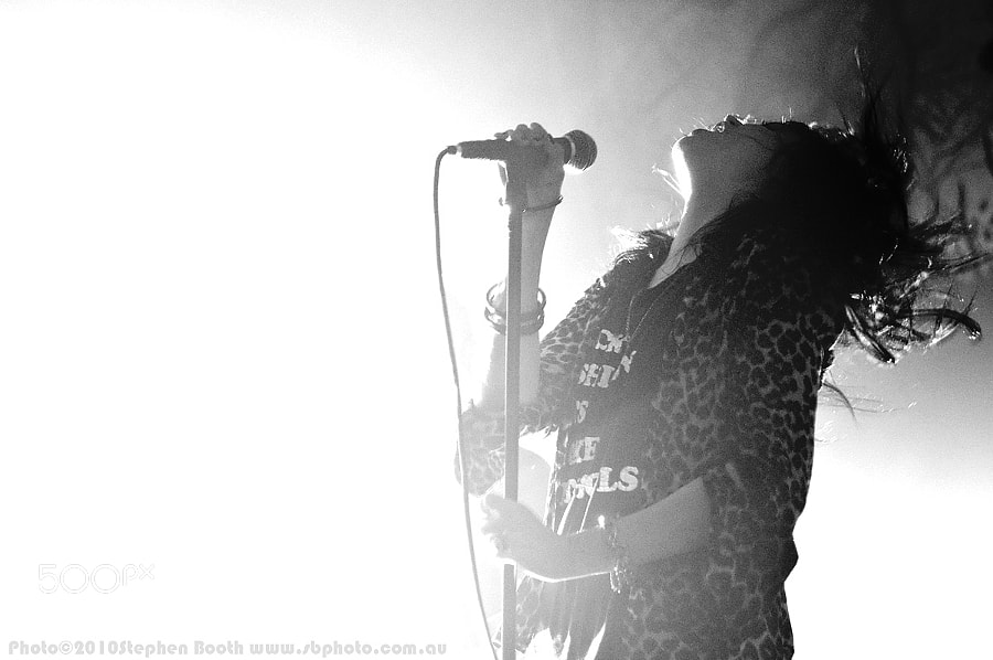Photograph Alison Mosshart / The Dead Weather by Stephen Booth on 500px