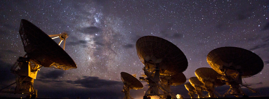 """Very Large Array, New Mexico. A frame from a timelapse sequence in my forthcoming film """"TimeScapes"""".  twitter.com/timescapes  www.facebook.com/TimeScapes"""