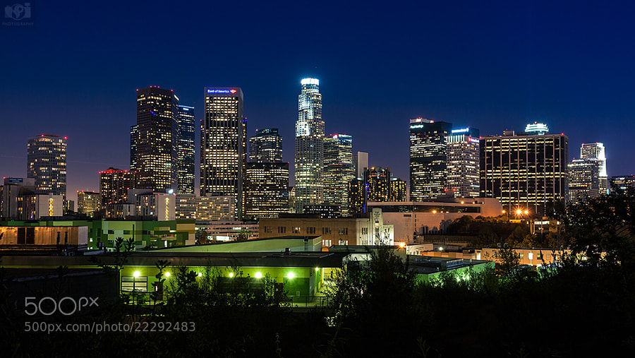 Photograph Downtown Los Angeles at Night by Nhut Pham on 500px