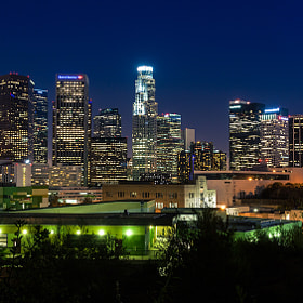 Downtown Los Angeles at Night by Nhut Pham (NhtPhm)) on 500px.com