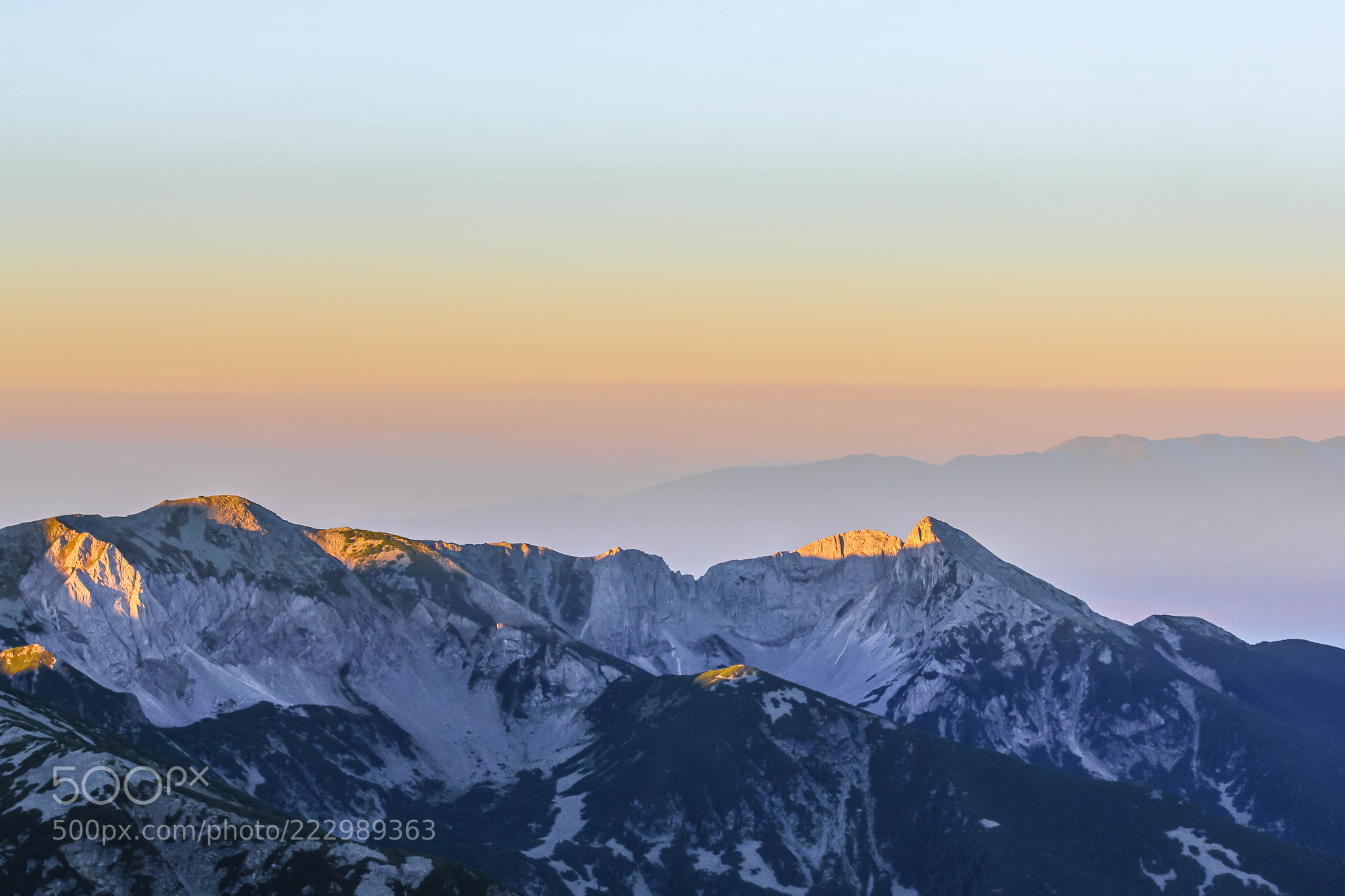 Sunrise over Pirin, Bulgaria