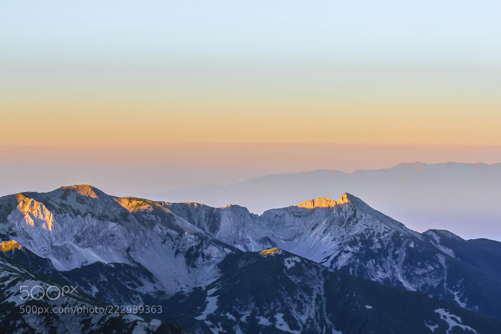 Sunrise over Pirin, Bulgaria