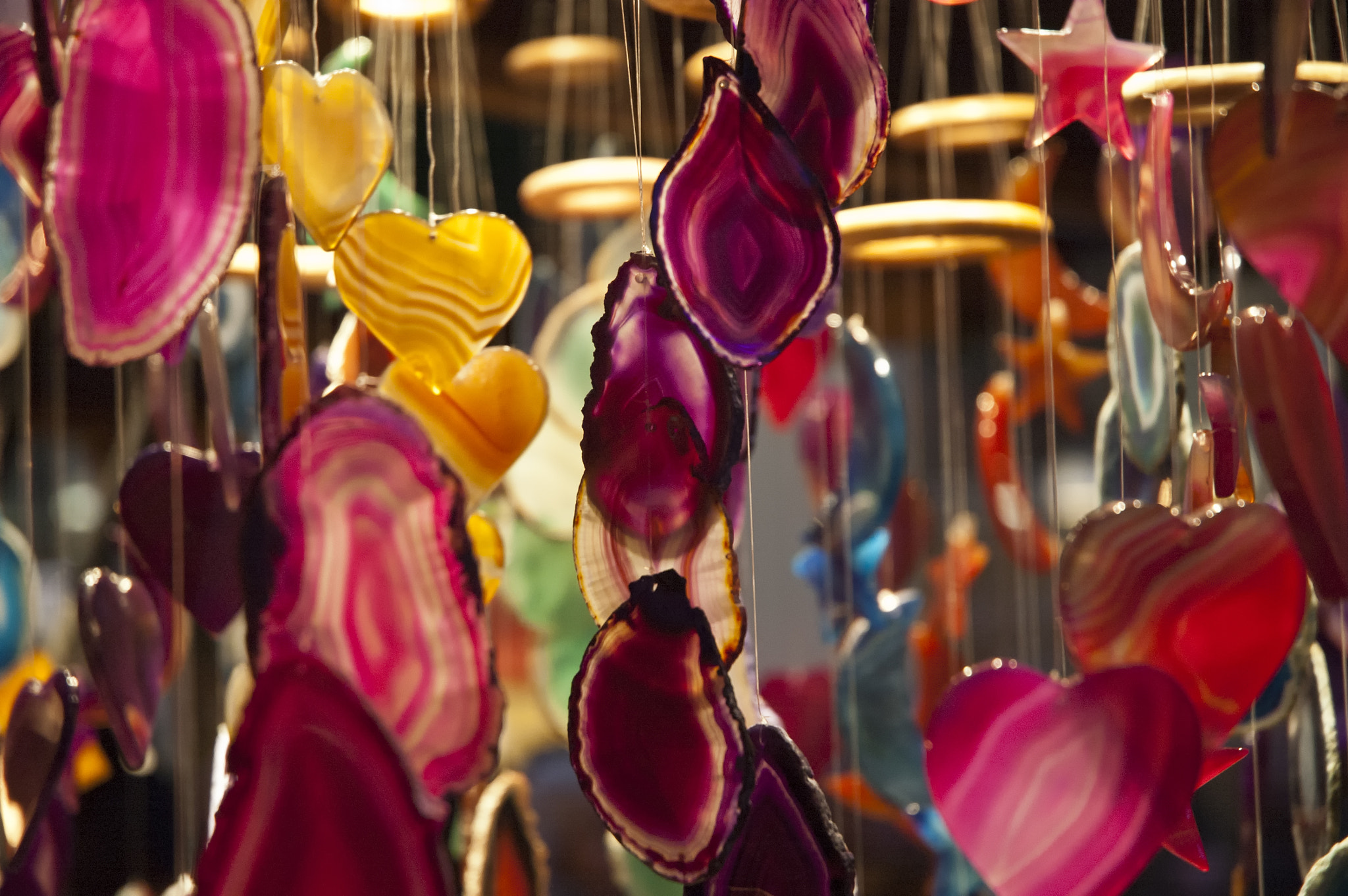Photograph Decorative hanging mobiles at Birmingham Christmas market by Magdalena Warmuz-Dent on 500px