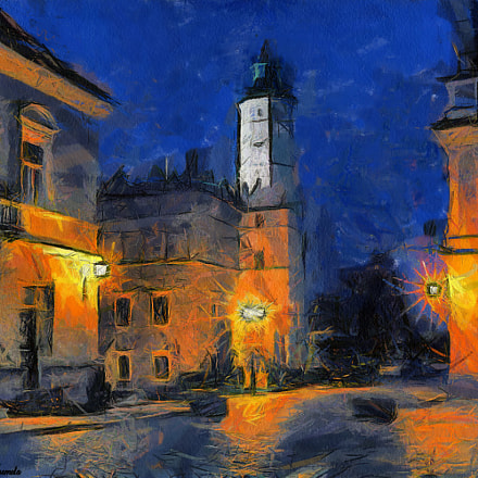 Sandomierz by night